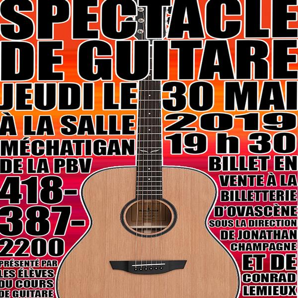 Spectacle de guitare 2019