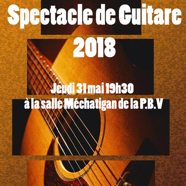 Spectacle de guitare 2018
